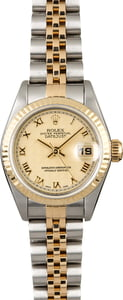 PreOwned Rolex Datejust 69173 Ivory Pyramid Dial