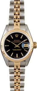Women's Rolex Datejust 69173 Black Index Dial