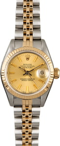 Used Rolex Datejust 69173 Two Tone Ladies Watch