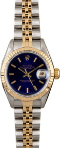 Rolex Datejust 69173 Blue Dial Ladies Watch