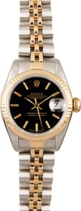Rolex Datejust 69173 Black Index Dial