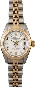 Rolex Datejust 69173 White Arabic Dial