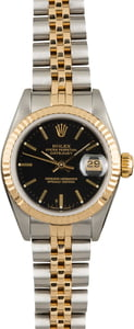 Pre Owned Ladies Rolex Datejust 69173 Black Dial
