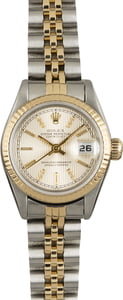 Rolex Datejust 69173 Silver Tapestry Index Dial