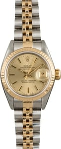 Rolex Datejust 69173 Champagne Index Dial