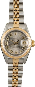 Pre Owned Rolex Lady Datejust 69173 Silver Sunburst