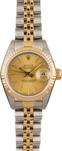 Pre Owned Rolex Datejust 69173 Champagne Dial
