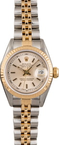 Pre Owned Rolex Ladies Datejust 69173 Silver Dial