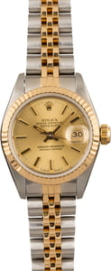 Pre-Owned Rolex Datejust 69173 Champagne Index Dial Jubilee