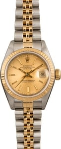 Pre-Owned Rolex Ladies Datejust 69173 Champagne Tapestry Dial