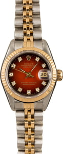 Rolex Lady Datejust 69173 Bordeaux Vignette Diamond Dial
