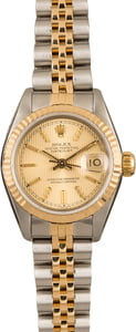 Pre Owned Rolex Two Tone Datejust 69173 Two Tone