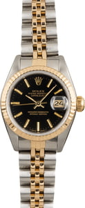 Pre Owned Rolex Lady-Datejust 69173 Black Dial