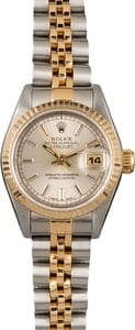 Pre Owned Rolex Lady Datejust 69173 Silver Dial