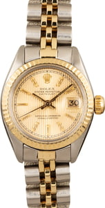 Used Rolex Datejust 6917 Champagne Dial Two Tone Jubilee