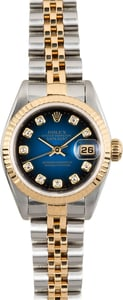 Rolex Lady-Datejust 69173 Blue Vignette Diamond