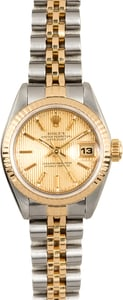 Rolex Lady-Datejust 69173 Champagne Tapestry Dial