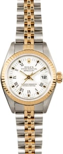 Rolex Lady-Datejust 69173 White Roman Dial