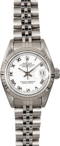 Rolex Ladies Datejust 69174 White Roman Dial