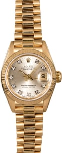 Ladies Rolex Datejust President 69178 Diamonds