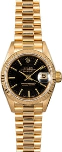 Rolex Lady Datejust President 69178 Black Index Dial