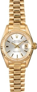 Rolex Lady Datejust 69178 President Silver Dial