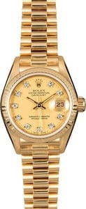 Authentic Rolex President 69178 Jubilee Diamond Dial