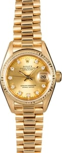 Rolex Lady President 69178 Champagne Diamond Dial