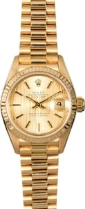 Rolex Lady Datejust 69178 Champagne Tapestry Dial