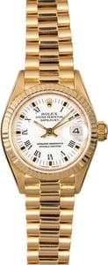 Rolex Ladies President 69178 White Arabic Dial