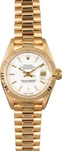 Rolex Ladies Datejust 69178 White Index Dial