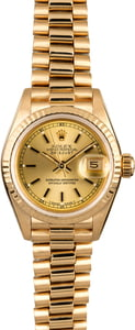 Rolex Lady Datejust 69178 Champagne Index Dial