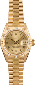 Rolex Lady Datejust 69288 Barked Diamond Bezel