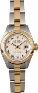Rolex Lady Datejust 79163 Ivory Pyramid Dial