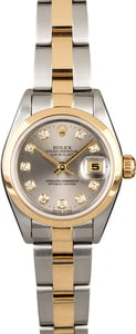 Ladies Rolex Datejust 79163 Rhodium Diamond Dial