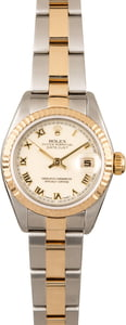 Rolex Lady Datejust 79163 Ivory Roman Dial