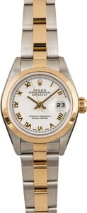 Pre-Owned Rolex Datejust 79163 White Roman Dial 26MM
