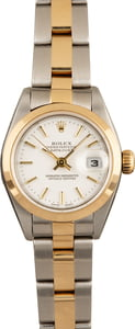 Pre-Owned Rolex Lady Datejust 79163 White Dial