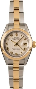 Pre-Owned Rolex Lady Datejust 79163 Pyramid Dial
