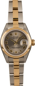 Pre-Owned Rolex Lady Datejust 79163 Slate Roman Dial