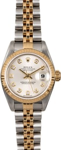 Rolex Ladies Datejust 79173 Silver Diamond