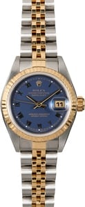 Rolex Ladies Datejust 79173 Blue Roman Dial