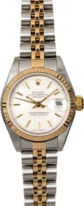 Rolex Ladies Datejust 79173 Silver Tapestry Dial