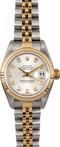 Rolex Ladies Datejust 79173 Silver Diamond Dial