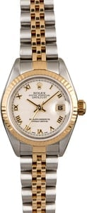 Women's Rolex Datejust 79173 Ivory Pyramid Roman Dial