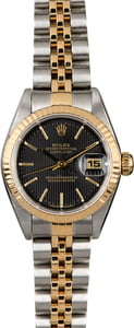 Rolex Ladies Datejust 79173 Black Tapestry Dial