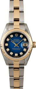 Rolex Datejust 79173 Blue Vignette Diamond Dial