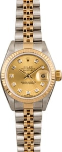 Pre Owned Rolex Lady Datejust 79173 Champagne Diamond Dial