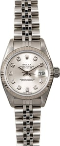 Rolex Ladies Datejust 79174 Silver Diamond Dial