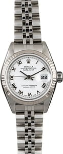 Women's Rolex Datejust 79174 White Roman Dial